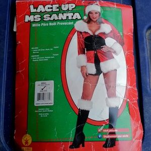 Lace Up Ms.Santa costume size small NWT in package
